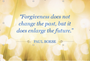 Upcoming Events - Creative Forgiveness Strategies for A Better Future